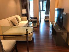 京基滨河时代广场 1室1厅41m²整租有钥匙,精装全齐2015年社区租房效果图