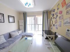 李沧万达广场公馆 2室2厅1厨1卫 83.5m² 精致装修二手房效果图