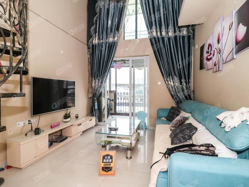 水晶之城三期 3号线荷坳站62平精装复式五房仅售360万
