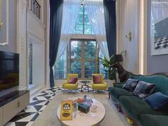 圣莫丽斯花园A区 全新装修 客厅空中挑高 靠山安静 看房方便二手房效果图
